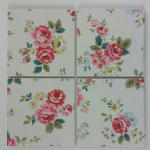 4 Ceramic Coasters in Cath Kidston Field Roses